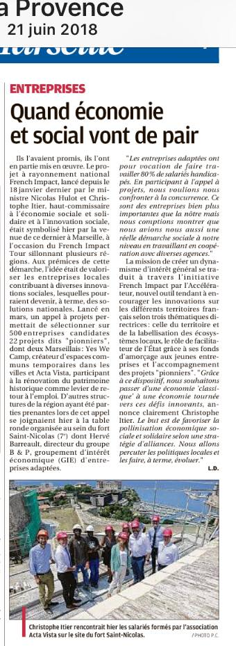 STD PRO - Article La Provence - French Impact - journal